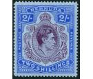 SG116b. 1941 2/- Deep purple and ultramarine/grey-blue. 'Line Pe