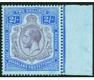 SG109c. 1926 2/- Purple and blue/pale blue. 'Nick in top right s