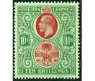 SG146. 1927 10/- Red and green/green. Brilliant fresh U/M mint..