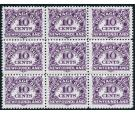 SG D6ac. 1949 10c Violet. 'POSTAGE LUE'. Post Office fresh U/M m