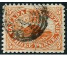 SG26. 1859 3d Red. Perforated. Very fine used...