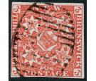 SG1. 1851 3d Bright red. Superb fine used...