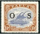 "SG O57a. 1931 1 1/2d Bright blue and bright brown. ""POSTACE"" at"