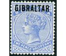 SG4a. 1886 2 1/2d Ultramarine. 'Overprinted in blue-black'. Very
