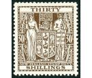 SG F205w. 1949 30/- Brown. 'watermark Inverted'. Superb U/M mint