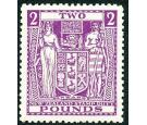 SG F206. 1946 £2 Bright purple. Choice superb fresh U/M mint...