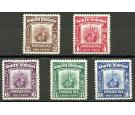 SG D85-D89. 1939 Set of 5. Superb fresh mint...