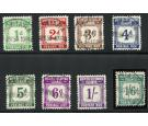 SG D1-D8. 1940 Set of 8. Superb fine used...