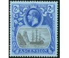 SG19. 1924 2/- Grey-black and blue/blue. Brilliant fresh mint...