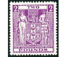 SG F182w. 1937 £2 Bright purple. 'Watermark Inverted'. Brilliant