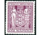 SG F156. 1935 12/6 Deep plum. Choice superb fresh mint...