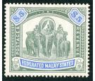 SG50. 1908 $5 Green and blue. Choice superb fresh mint...