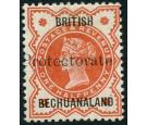 SG55a. 1890 1/2d Vermilion. 'Protectorate Double'. Choice superb