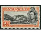 SG41ba. 1949 2d Black and red orange. 'Mountaineer flaw'. Superb