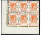 SG157. 1938 $2 Red-orange and green. Brilliant U/M block of 6...
