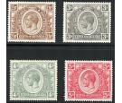 SG89-92. 1922 2s50c to 5/-. Superb fresh mint...