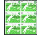 SG1022a. 1977 8 1/2p Racket Sports. 'Imperforate'. U/M block...