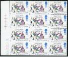 SG1790a. 1993 Christmas. 19p 'Imperforate'. U/M block...