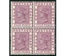 SG16. 1885 4d Deep mauve. Brilliant fresh mint block of four...