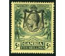 SG121.1922 5/- Green and yellow. Brilliant fresh mint...