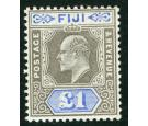 SG114. 1903 £1 Grey-black and ultramarine. Choice superb fresh m
