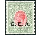 SG62. 1917 50r Carmine and green. Superb fresh well centred mint