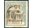 SG E6a. 1904 15c Grey-green. 'Surcharge Inverted'. Superb fine u