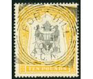 SG52. 1897 £10 Black and yellow. Brilliant fine well centred use