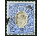 SG67. 1903 £10 Grey and blue. Choice brilliant fine used...