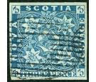 SG4. 1857 3d Pale blue. Superb fine used with excellent...