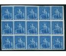 SG3. 1852 (1d.) Blue. Choice superb fresh mint block of 15...