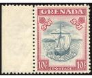 SG163c. 1943 10/- Slate-blue and bright carmine. Perf.12. Superb