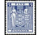 SG F168. 1931 £5 Indigo-blue. Brilliant fresh U/M mint...