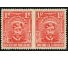 SG2a. 1924 1d Bright rose. 'Imperforate Between, Horizontal Pair