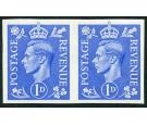 SG504b. 1951 1d Pale ultramarine. 'Imperforate Pair'. U/M mint..