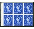 SG571b. 1958 1d Ultramarine. 'Part Perforate Pane'. U/M mint...