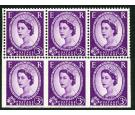SG575c. 1958 3d Deep lilac. 'Part Imperforate Pane'. Brilliant U