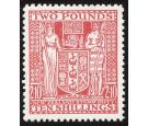 SG F207. 1951 £2-10-0 Red. Brilliant fresh U/M mint...