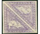 SG20. 1864 6d Bright mauve. Superb fresh mint pair...
