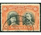 SG163. 1910 10/- Deep myrtle and orange. Superb fine used...