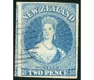 SG10. 1857 2d Blue. Brilliant fine used...