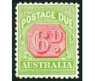 SG D110. 1936 6d Carmine and yellow-green. Superb fresh well cen