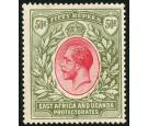 SG75. 1921 50r Carmine and green. Choice superb mint...