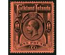 SG69. 1914 £1 Black/red. Superb fresh U/M mint...