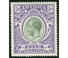 SG51. 1913 5/- Grey-green and violet. very fine well centred min