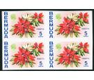 "SG253 Variety. 1970 5c Poinsettia. ""Imperforate Block'. Brillian"