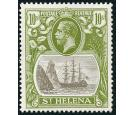 SG112. 1922 10/- Grey and olive-green. Brilliant U/M mint...