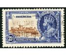 SG96m. 1935 2 1/2d Brown and deep blue. 'Bird by turret'. Superb