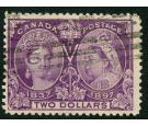 SG137. 1897 $2 Deep violet. Very fine used with roller cancel...