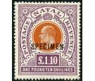 SG162s. 1908 £1-10s Brown-orange and deep purple. 'SPECIMEN'...